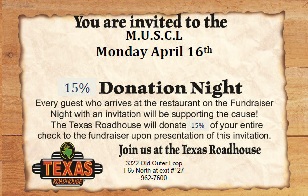 April 16, 2018 - Join us at the Texas Roadhouse